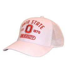 Top of the World Ohio State Buckeyes White Mesh Snapback