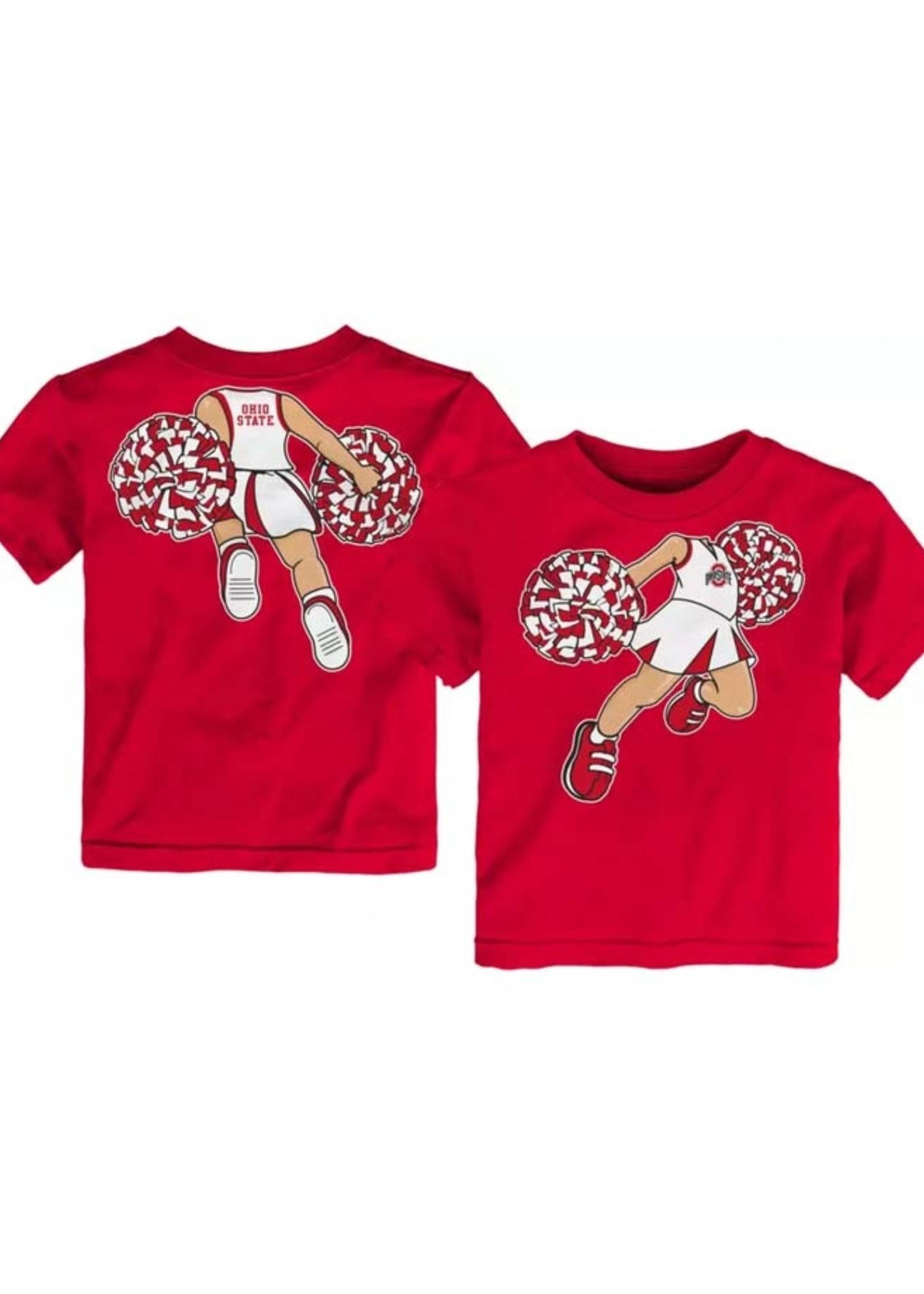 Ohio State Buckeyes Toddler Pom Pom Cheer T-Shirt