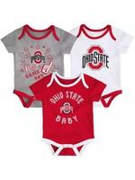 Ohio State Buckeyes Infant 3-Piece Onesie Set