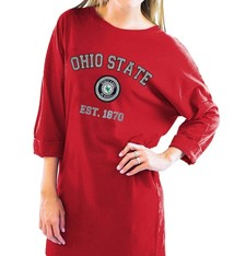 Gameday Couture Ohio State University T-Shirt Dress