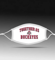 Bend Together As Buckeyes  Adjustable Fit Face Covering/White