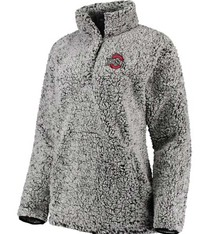 Ohio State Buckeyes Women's Sherpa Quarter-Snap Pullover Jacket