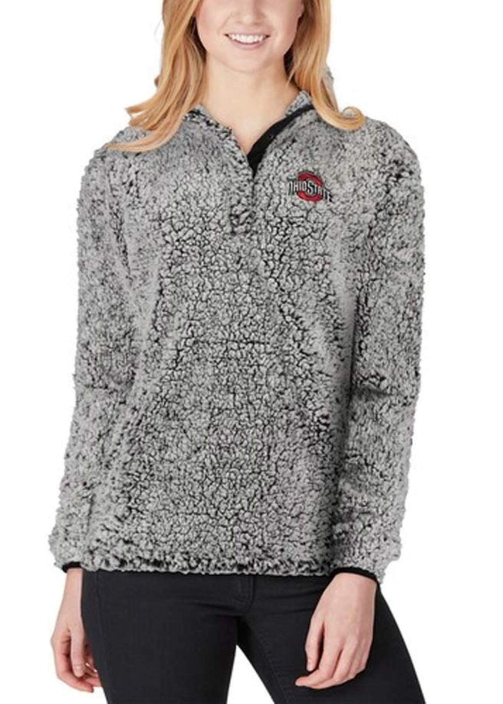 Ohio State Buckeyes Women's Sherpa Quarter-Snap Pullover Jacket