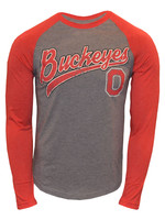 Ohio State Buckeyes Scarlet & Gray Long Sleeve Tee