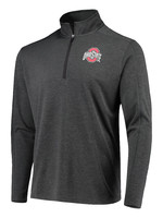Top of the World Ohio State Buckeyes Gray Quarter-Zip Pullover