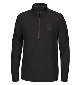 Ohio State Buckeyes Black Long Sleeve 1/4 Zip Pullover