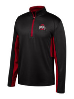 Ohio State Buckeyes Mens Black Long Sleeve 1/4 Zip Pullover