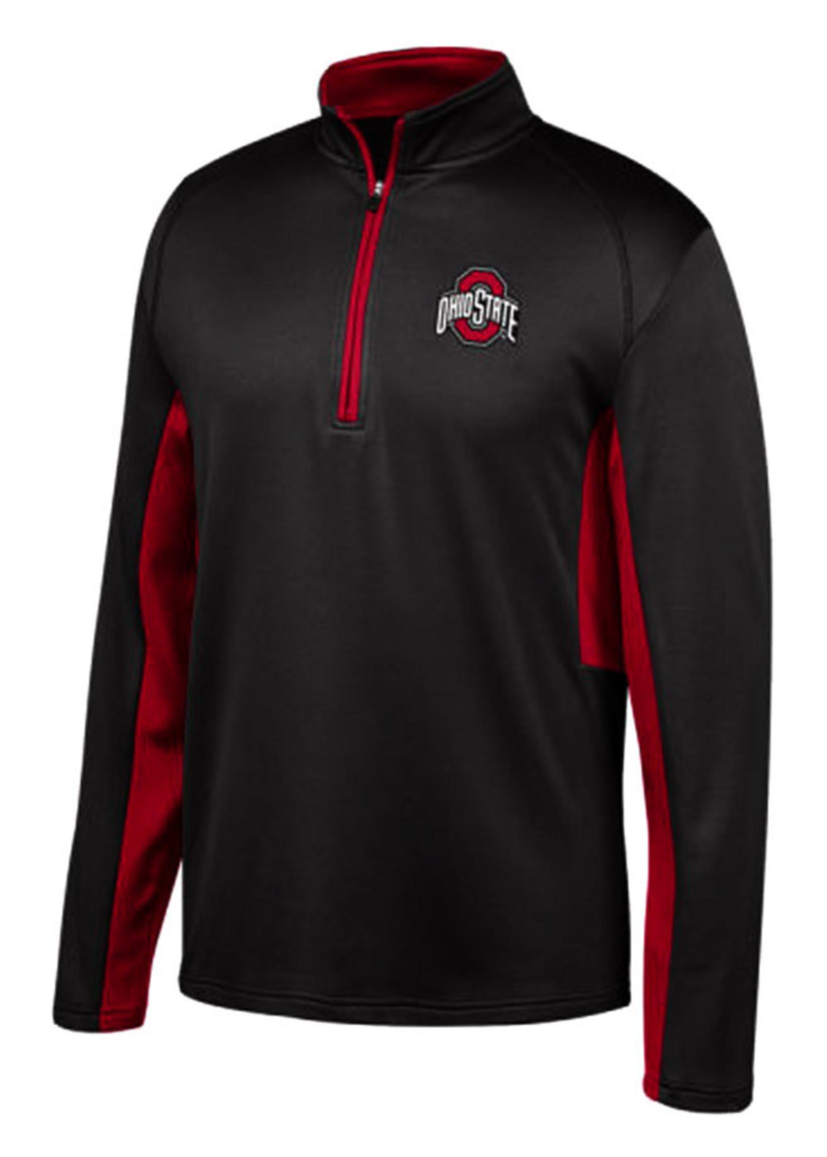Ohio State Buckeyes Mens Black Long Sleeve 1/4 Zip Pullover