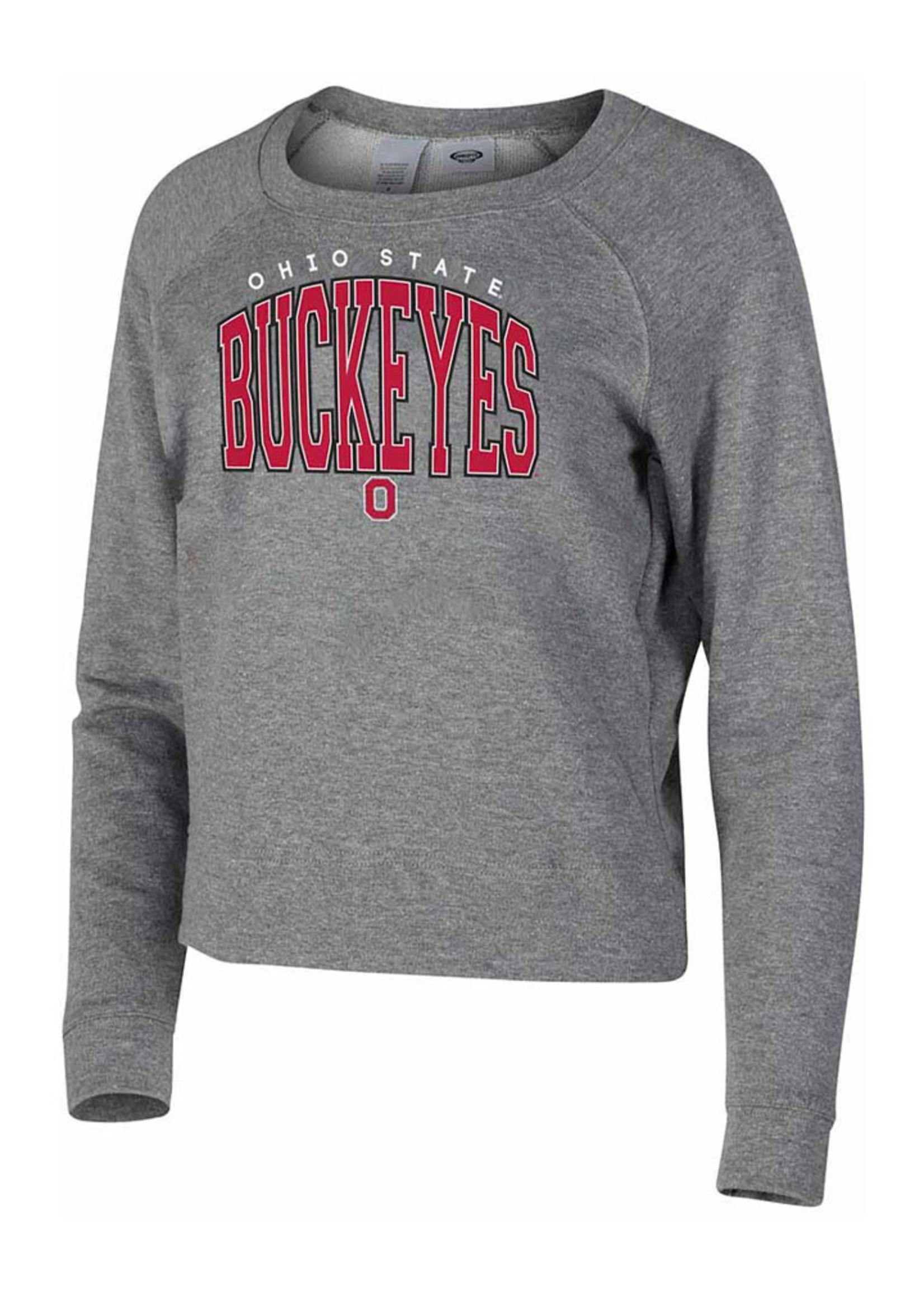 Ohio State Buckeyes Womens Grey Mainstream Crew Sweatshirt