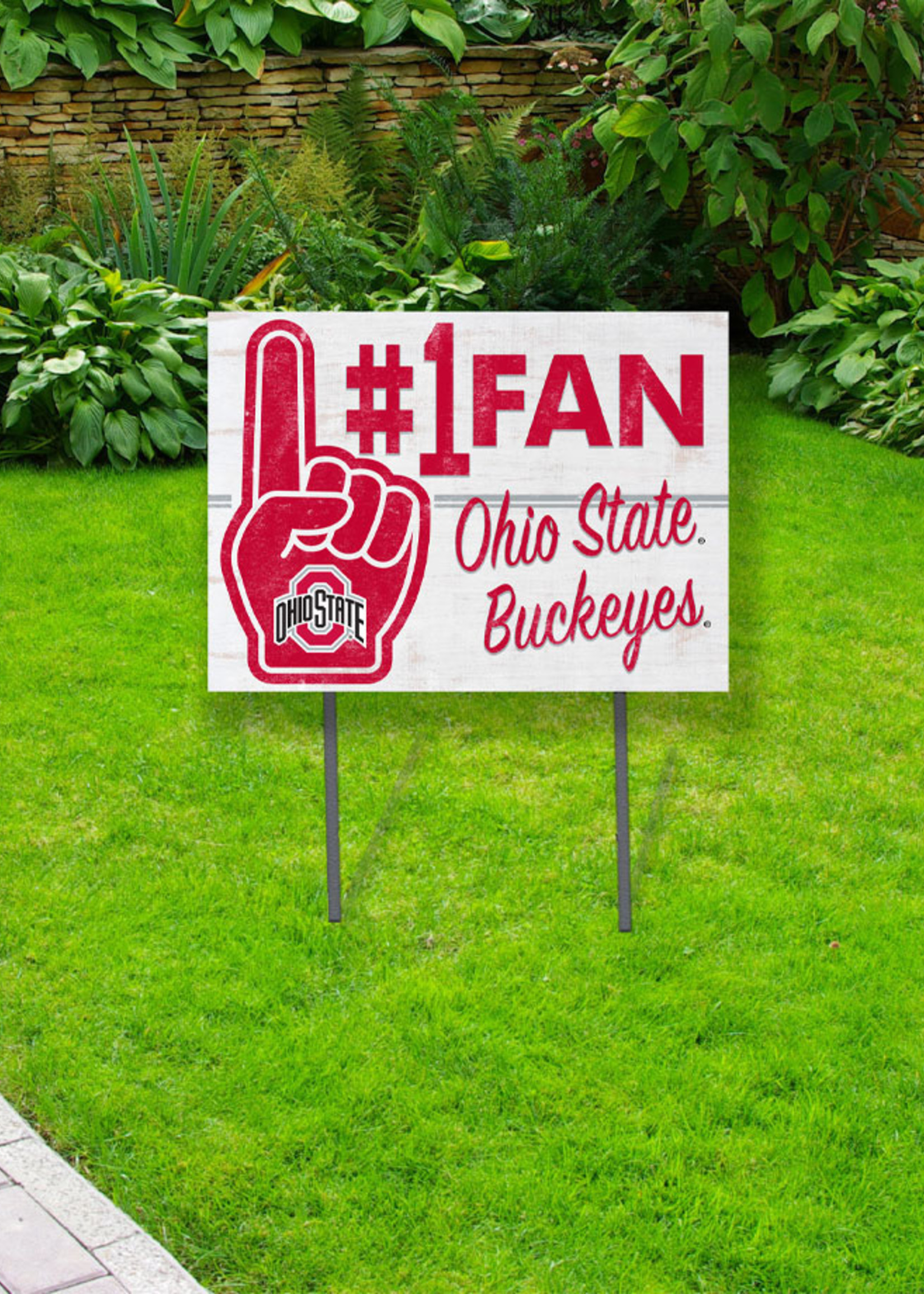 Ohio State Buckeyes  ''#1 Fan'' Yard Sign