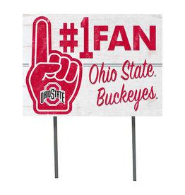Ohio State Buckeyes ''#1 Fan'' Yard Sign