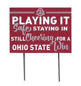 Ohio State Buckeyes ''Playing It Safe'' Yard Sign