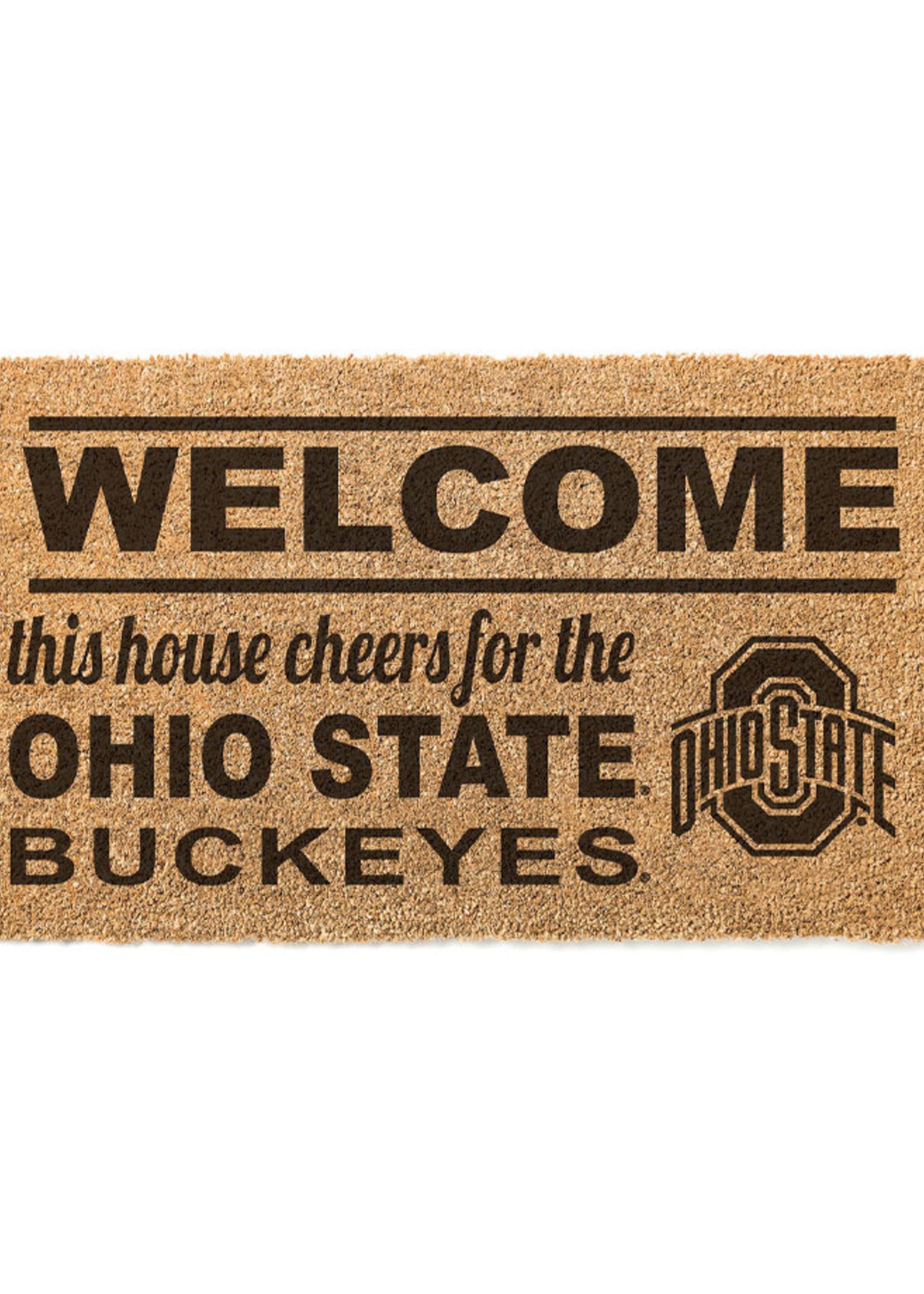 "Ohio State Buckeyes ""Welcome"" Door Mat"
