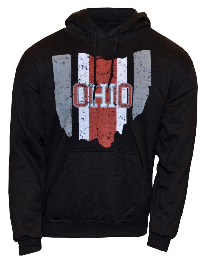 Ohio Helmet Stripe State Hoodie