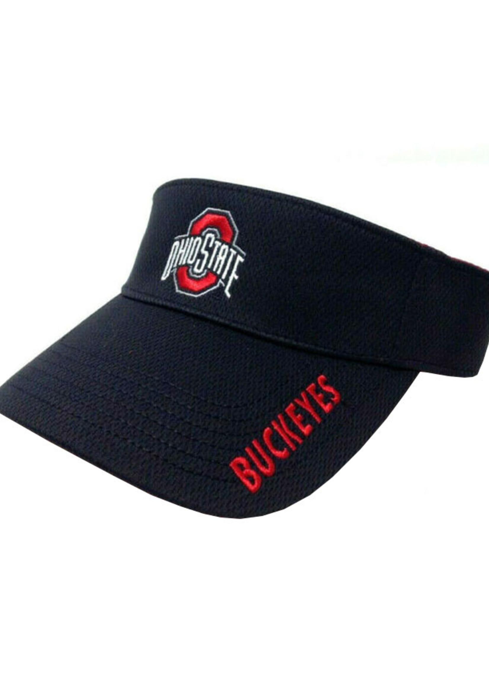 Ohio State Buckeyes Black Adjustable Visor