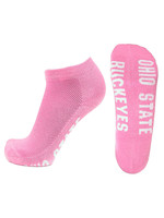 Ohio State Buckeyes Pink No Show Footie Socks