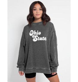 Ohio State Buckeyes Womens Charcoal Campus Crew Sweatshirt