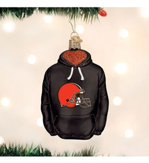 Old World Christmas Cleveland Browns Hoodie Ornament