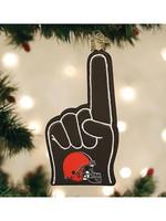 Old World Christmas Cleveland Browns Foam Finger Ornament