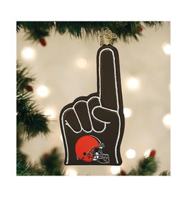 Old World Christmas Cleveland Browns Foam Finger Ornament