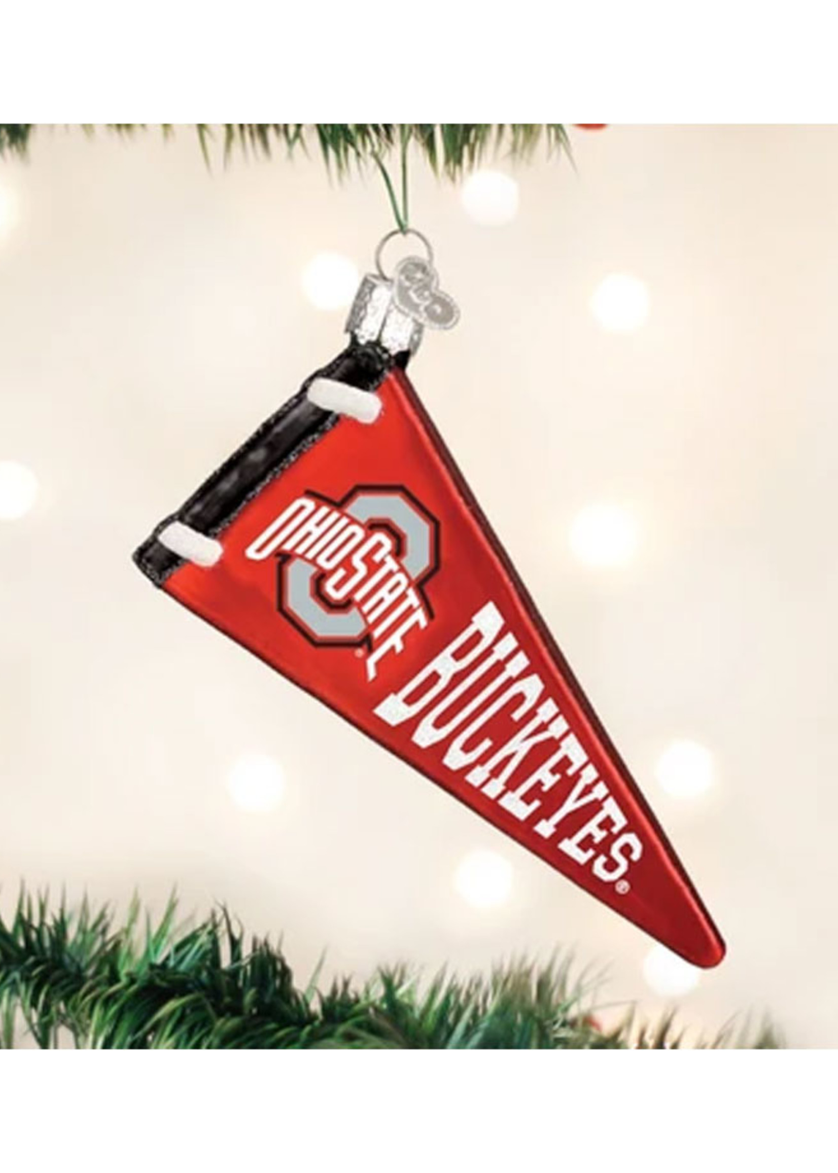 Old World Christmas Ohio State Pennant Ornament