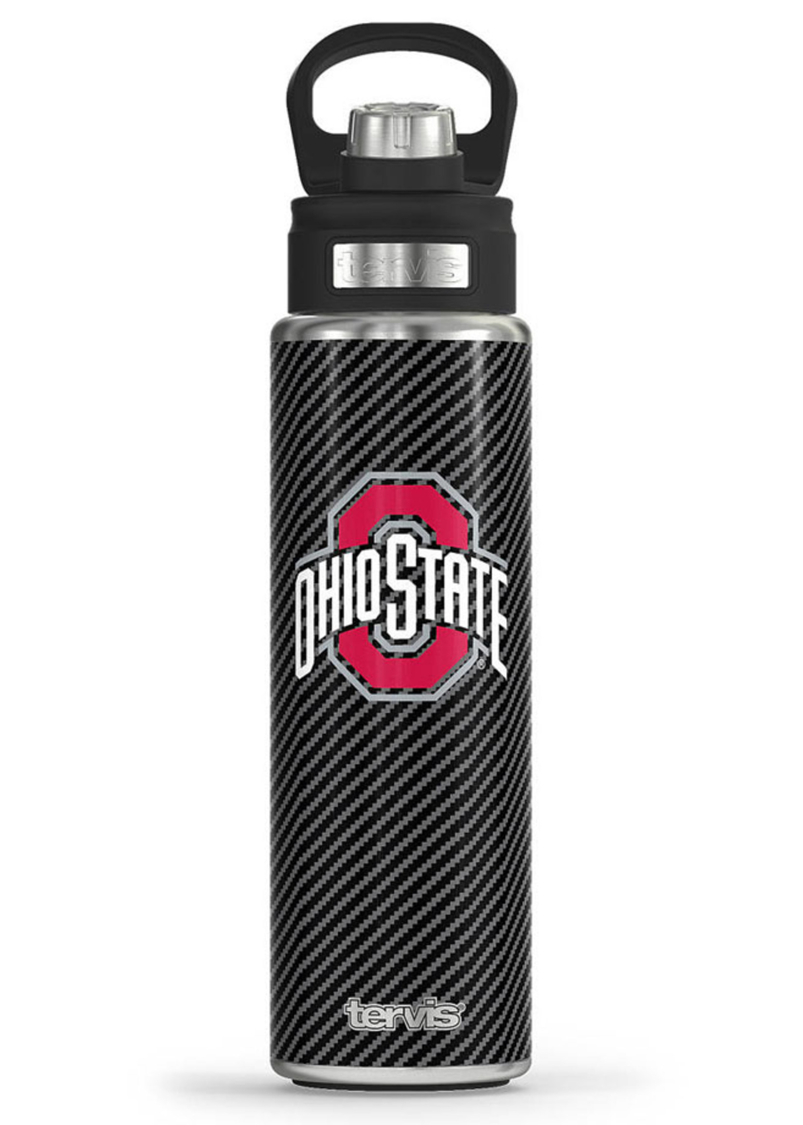 Tervis Ohio State Buckeyes Carbon Fiber 24oz Water Bottle