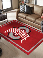 "Ohio State University 5'X7'6"" Logo Area Rug"