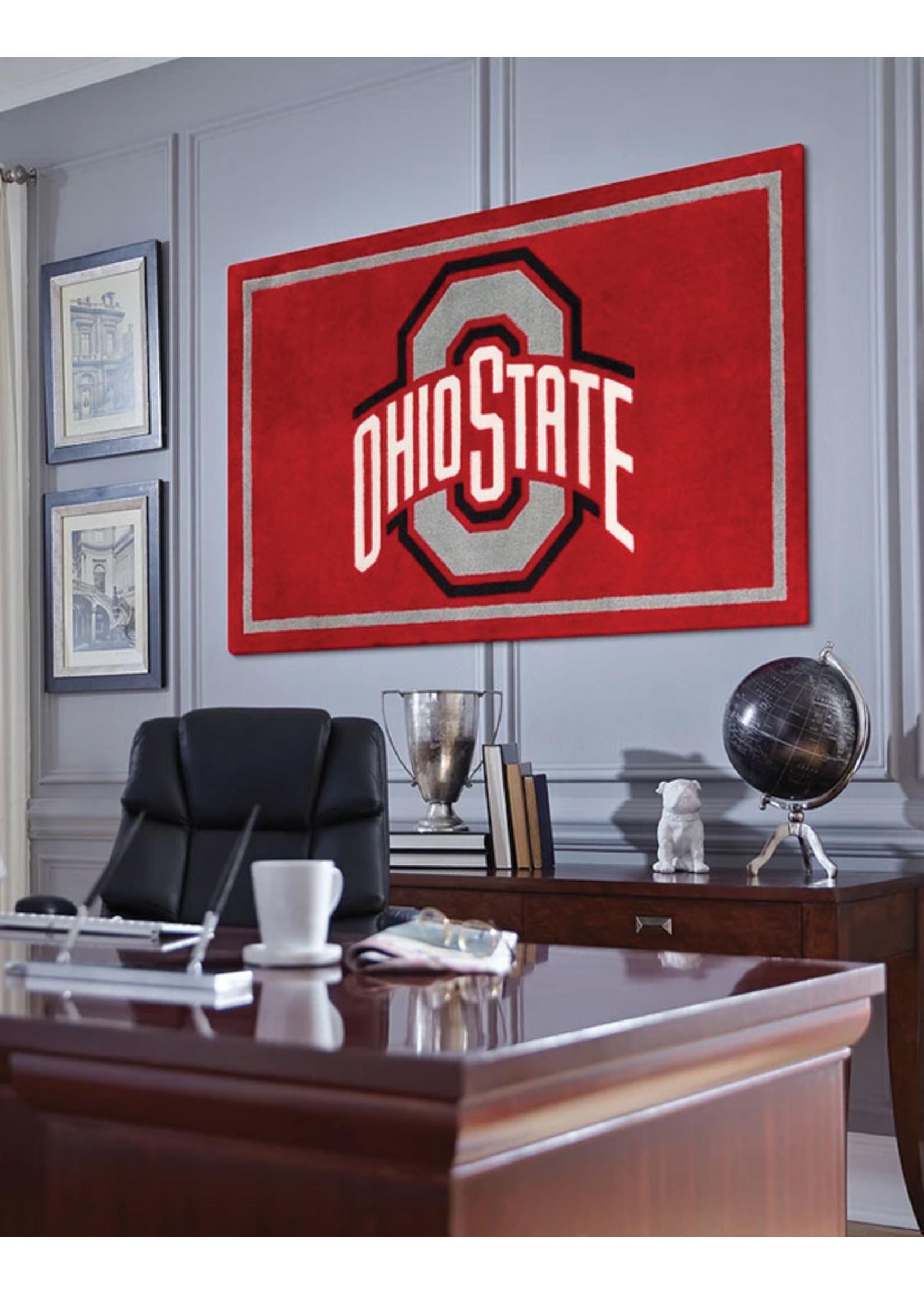 "Ohio State University 5'X7'6"" Logo Area Rug"