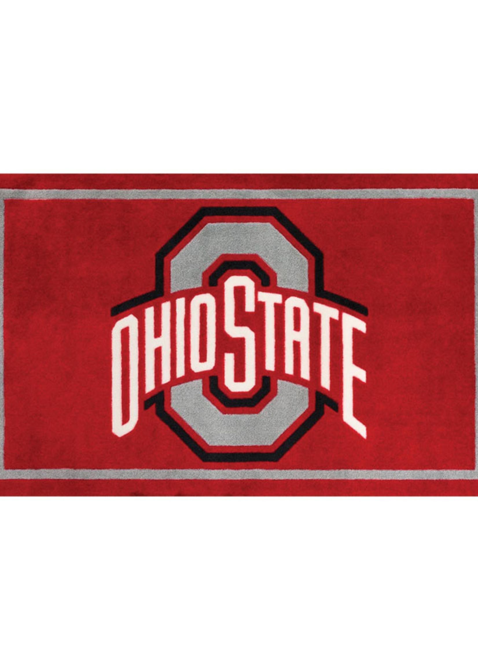"Ohio State University 3'2""X5'1"" Logo Area Rug"