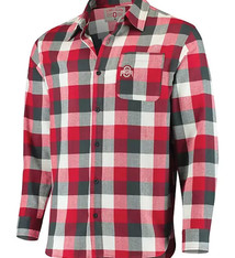 Ohio State Buckeyes Men's Button-Down Flannel Shirt - 2XL