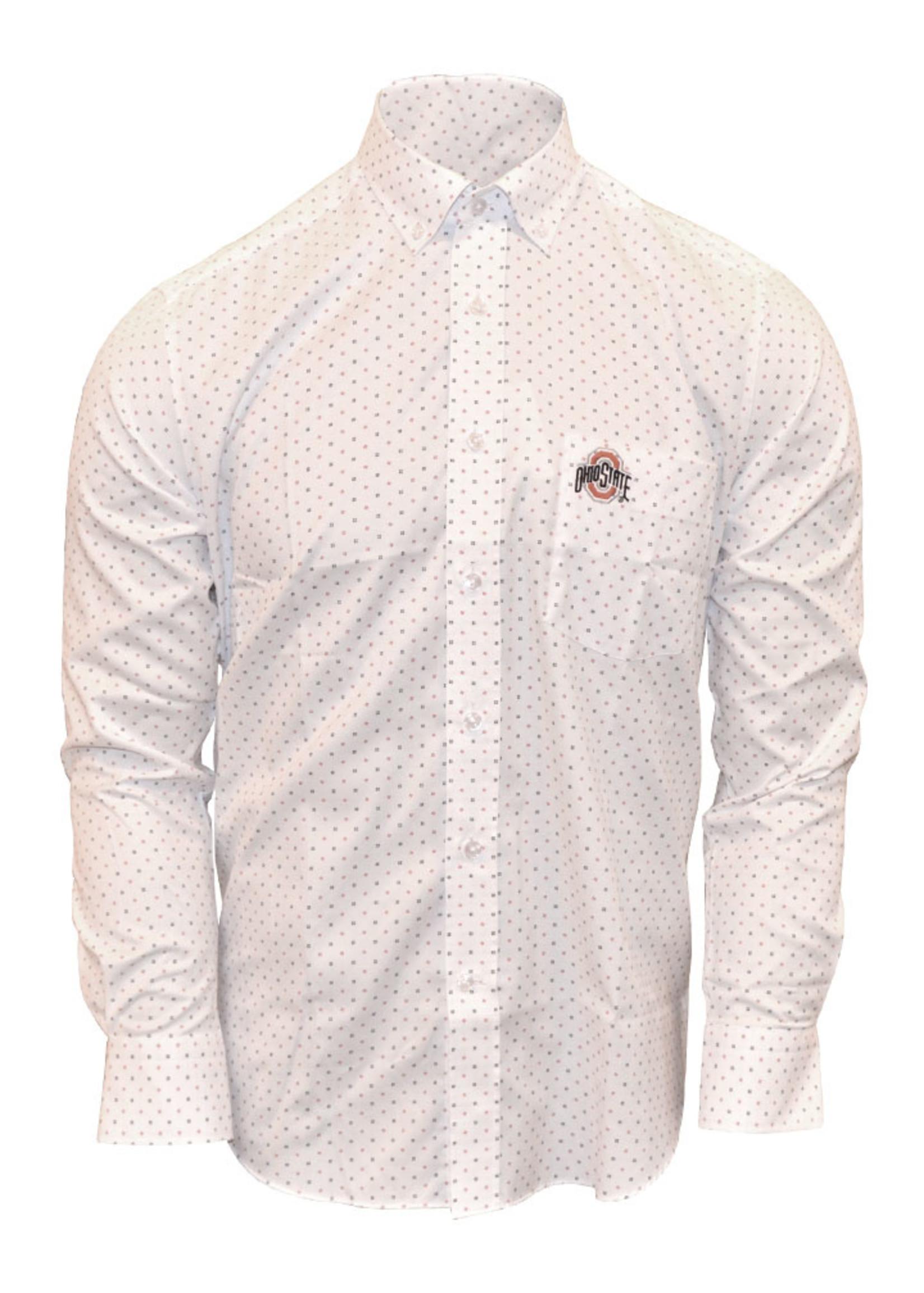 Ohio State Buckeyes Polka Dot Dress Shirt