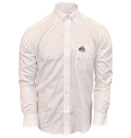 Ohio State Buckeyes Polka Dot Dress Shirt