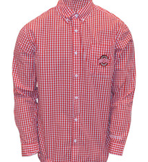 Ohio State Buckeyes Checkered Dress Shirt