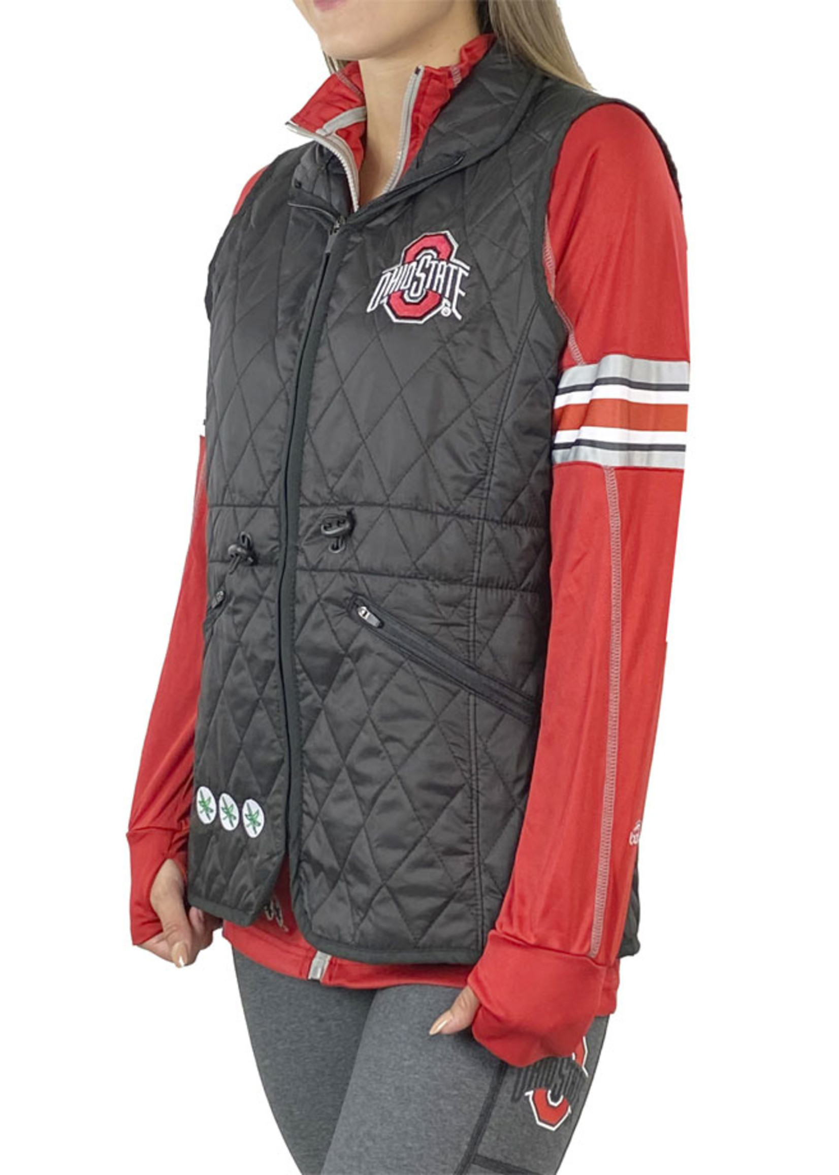 Bend Ohio State Lightweight Quilted Vest - Black