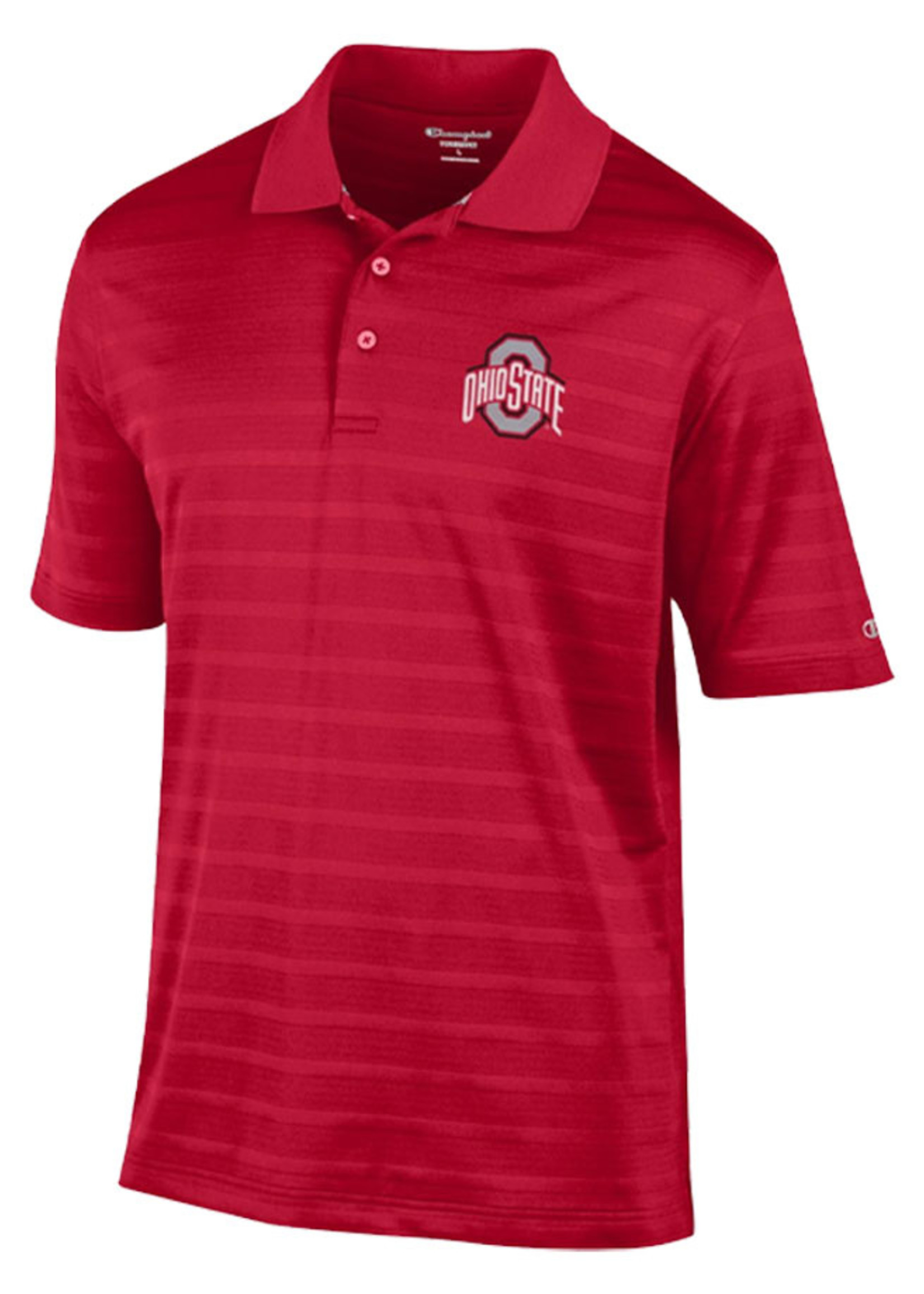 Champion Ohio State Buckeyes Textured Solid Polo