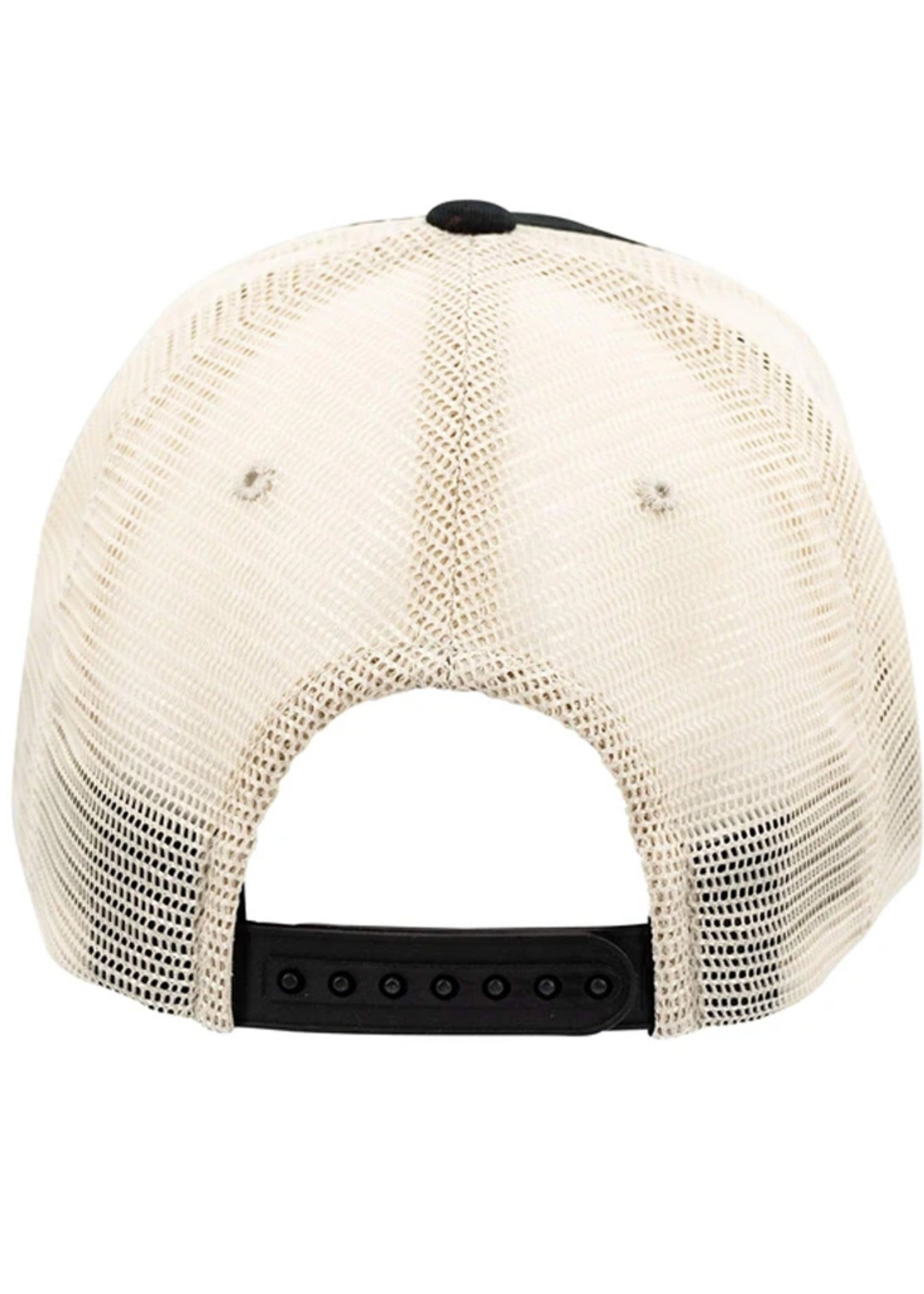 Ohio State Buckeyes Black and Tan Mesh Adjustable Hat