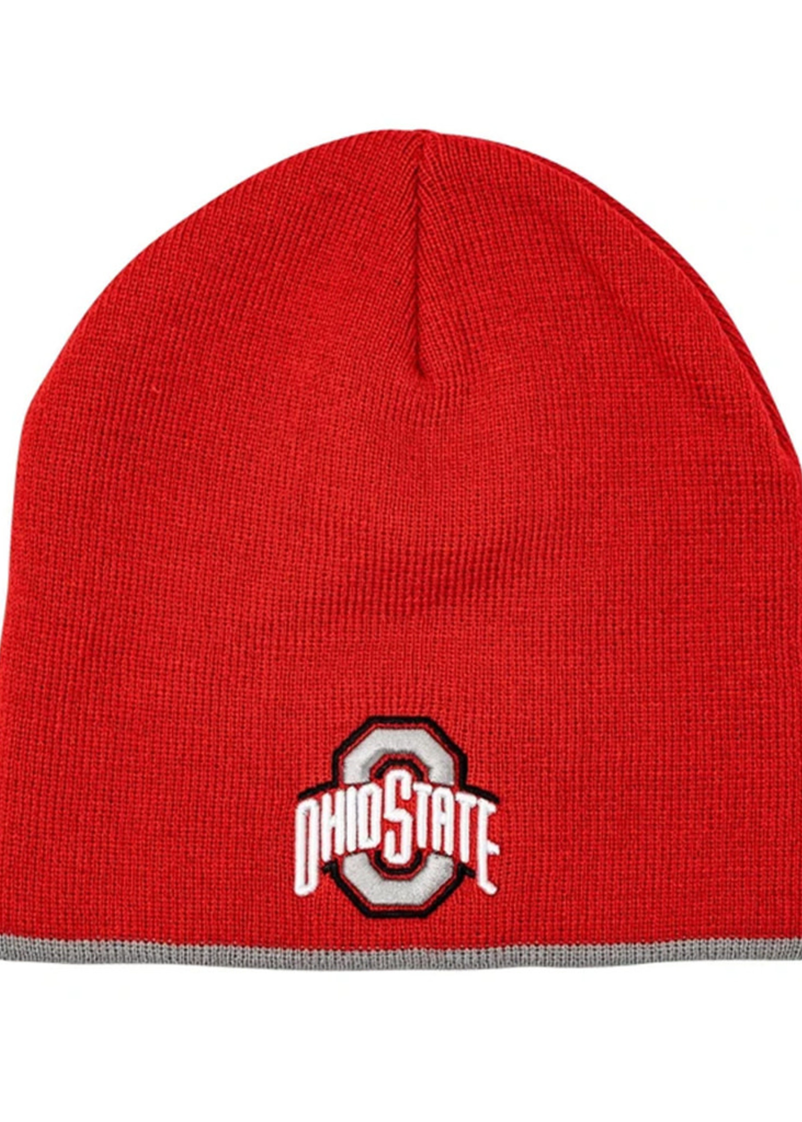 Ohio State Red Athletic O and Arch Logo Knit Hat