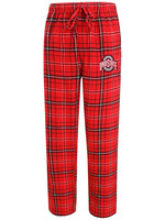 Ohio State Buckeyes Mens Red Plaid Flannel Lounge Pants