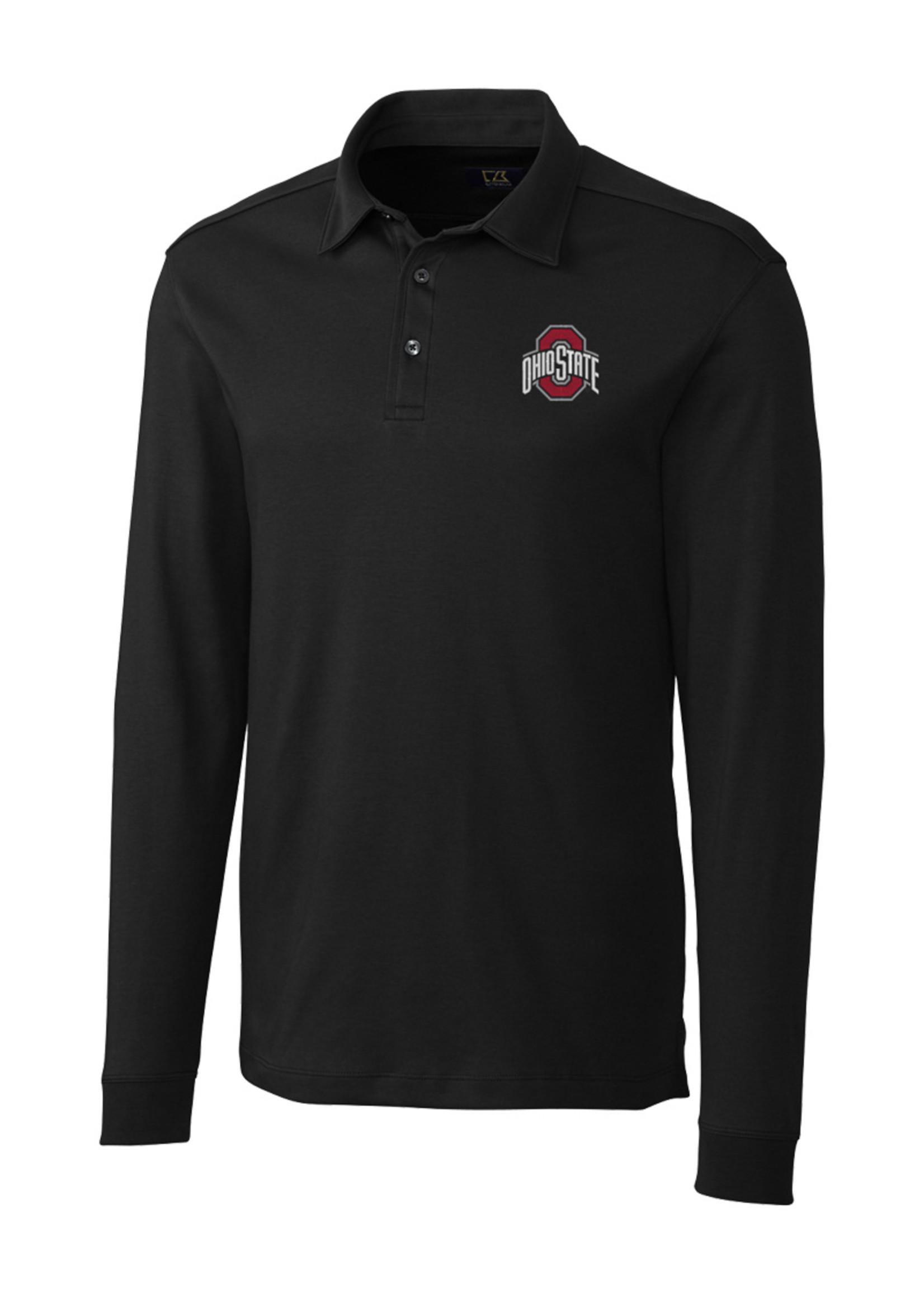 Cutter & Buck Ohio State University Long Sleeve Pima Belfair Polo