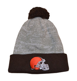 Cleveland Browns Grey Beanie with Pom