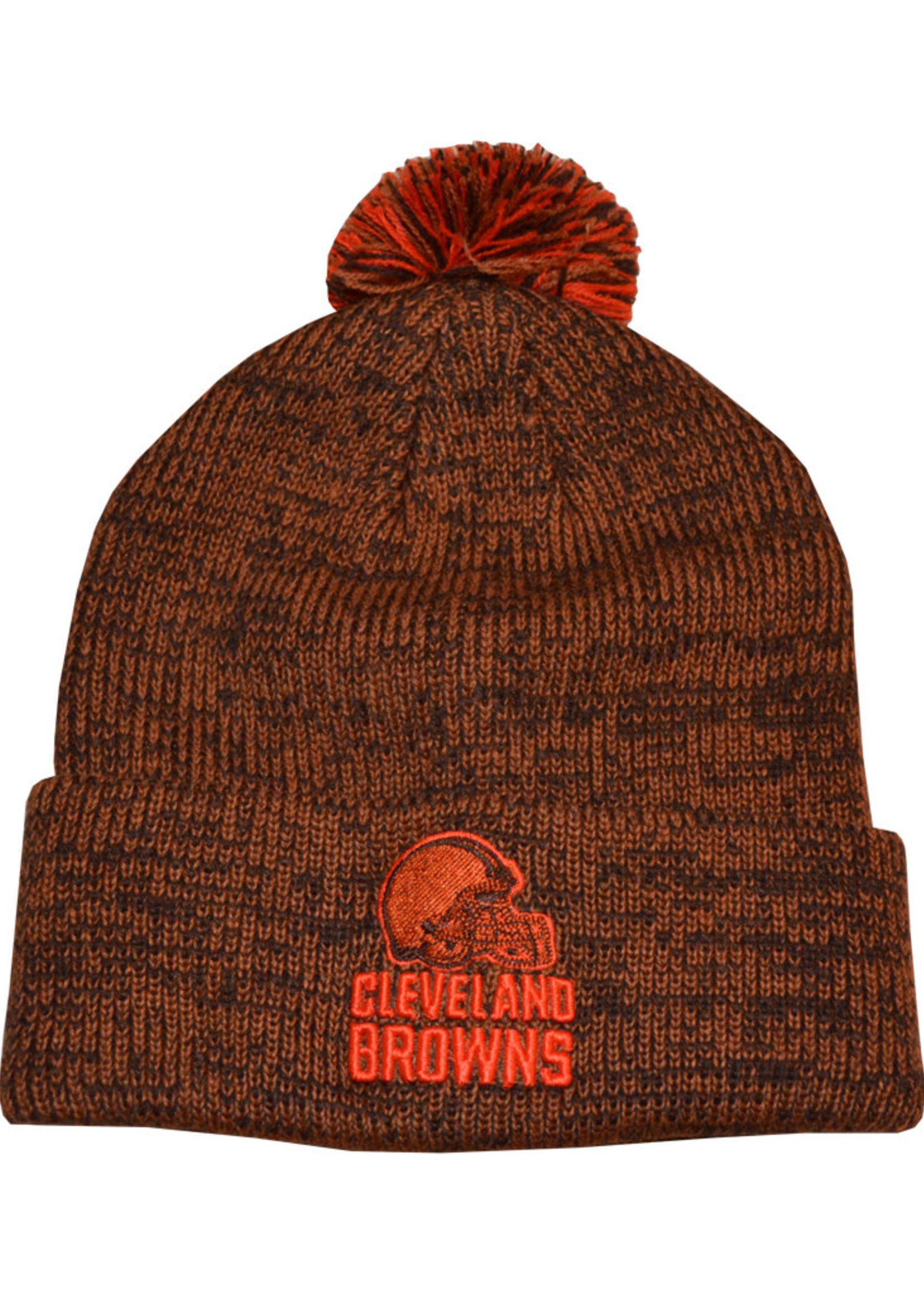 Cleveland Browns Orange and Brown Beanie