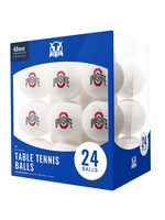 Ohio State Buckeyes 24 Count Table Tennis Balls