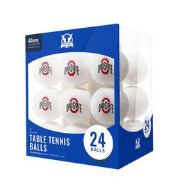 Ohio State Buckeyes 24 Count Table Tennis Balls