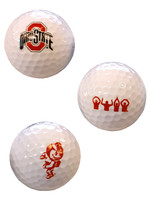 Ohio State Buckeyes 3 Pack Golf Balls