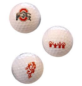 Ohio State Buckeyes 3 Pack Golf Balls