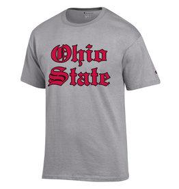 Champion Ohio State Buckeyes Old English Basic Grey Tee