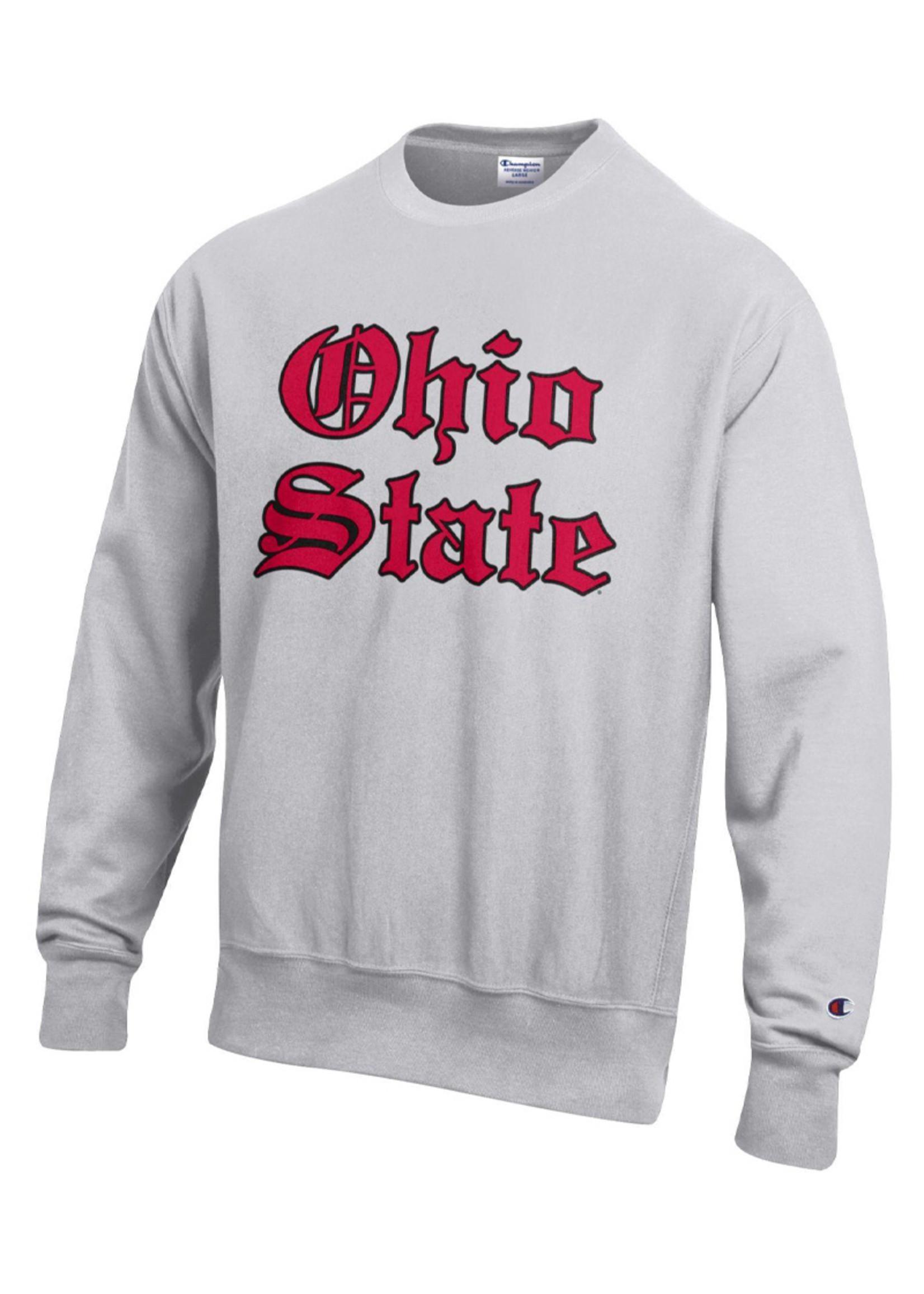 Champion Ohio State Buckeyes Old English Reverse Weave Crewneck