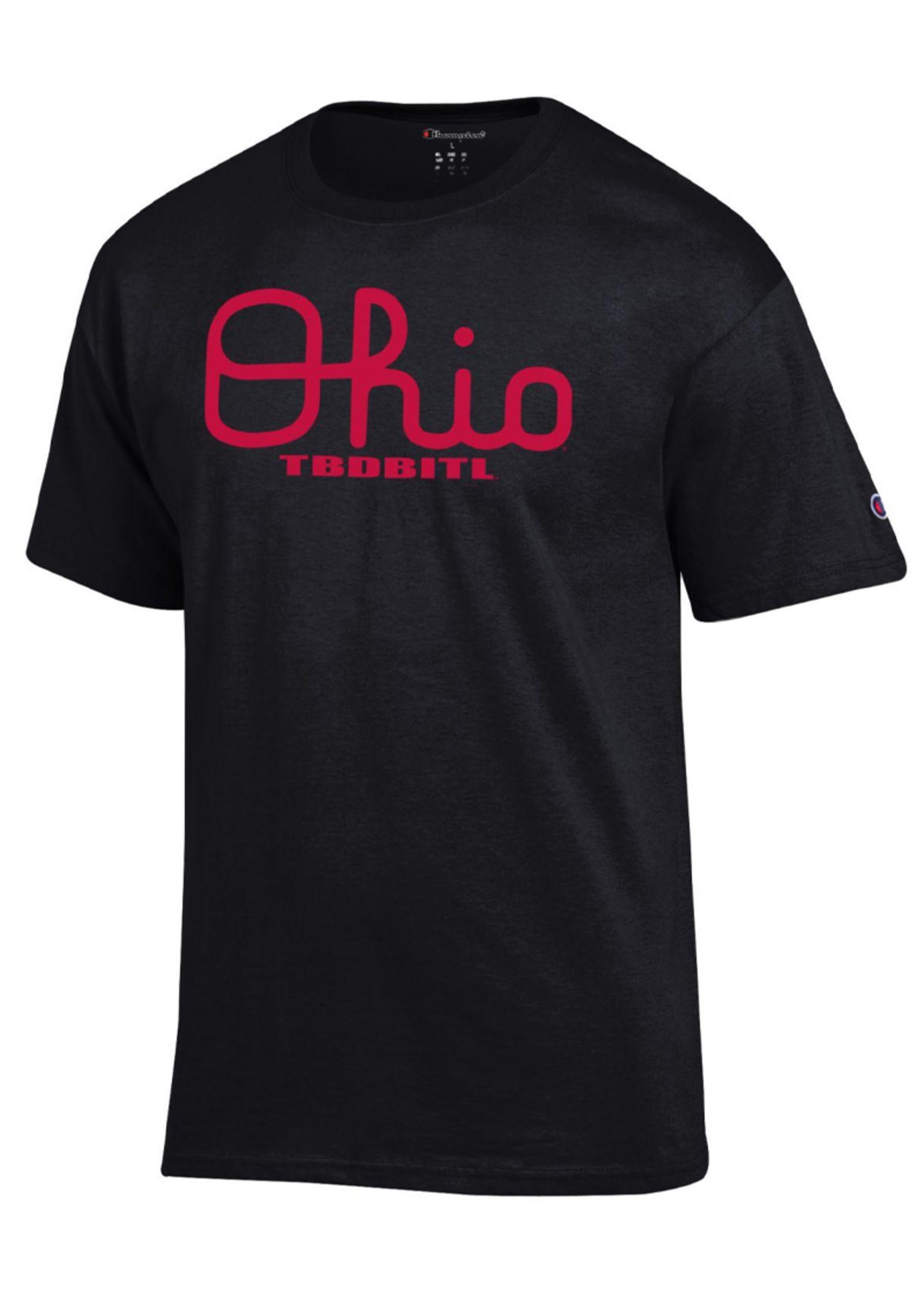 Champion Ohio State Buckeyes TBDBITL Script Ohio Shirt