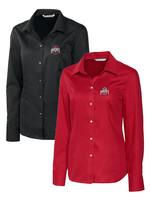 Cutter & Buck Ohio State University Women's Long Sleeve Button Down