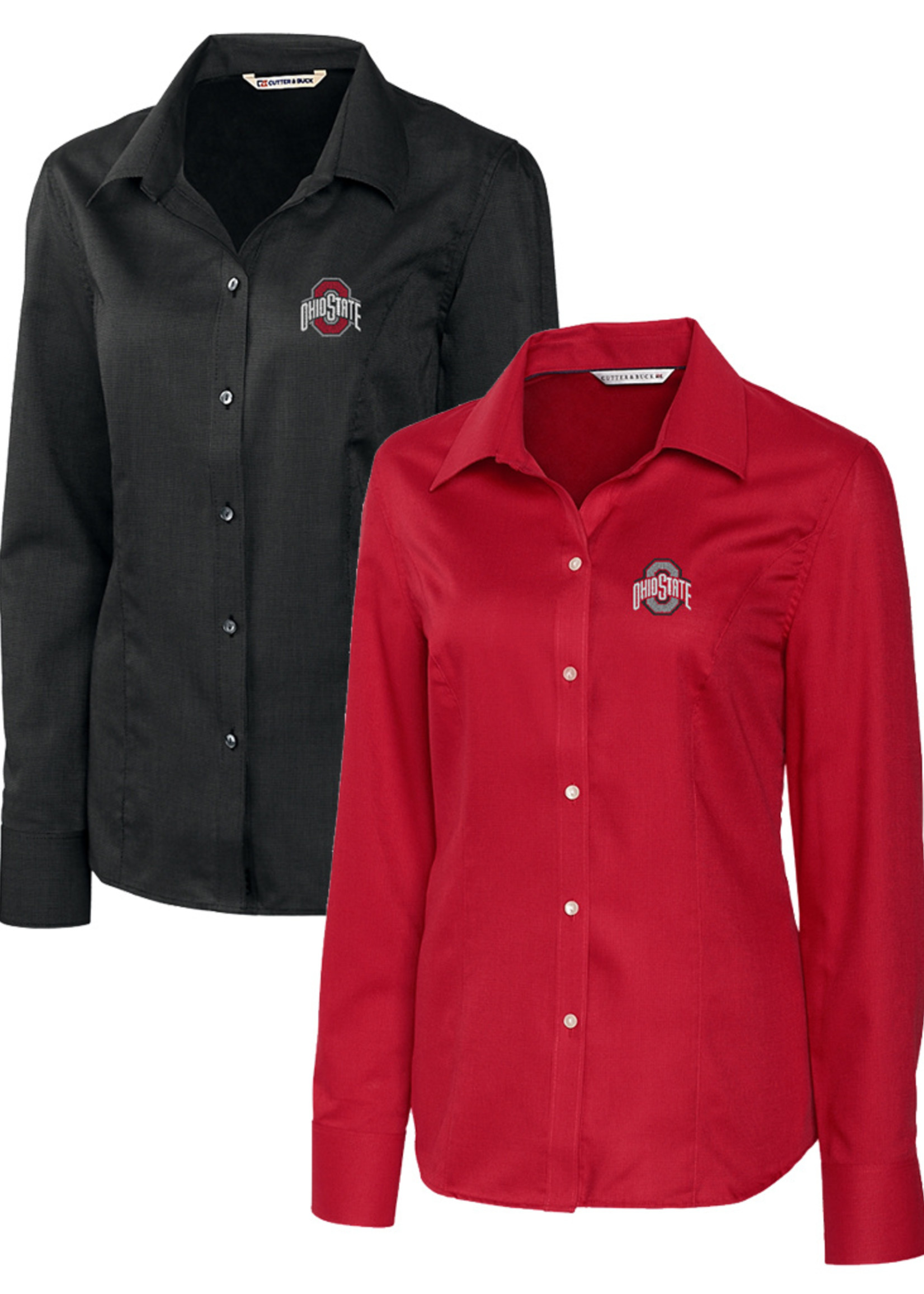 Cutter & Buck Ohio State University Women's Epic Easy Care Long Sleeve Button Down